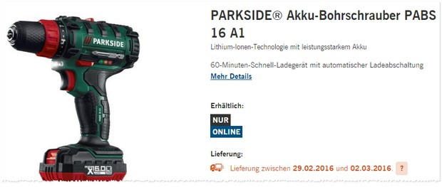 parkside akkuschrauber als lidl angebot ab 29. Black Bedroom Furniture Sets. Home Design Ideas