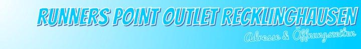 RUNNERS POINT Outlet Recklinghausen: Öffnungszeiten & Adresse