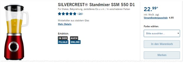 LIDL Standmixer SSM 550 D1
