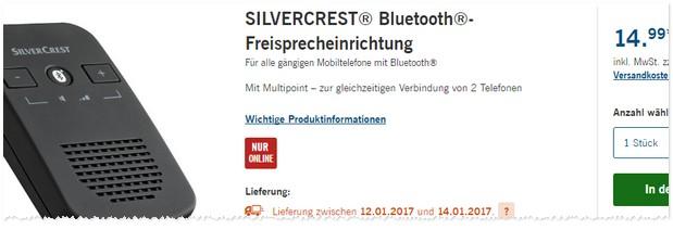 silvercrest freisprechanlage lidl angebot ab 12. Black Bedroom Furniture Sets. Home Design Ideas
