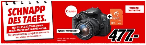 Canon EOS 700D + Objektiv