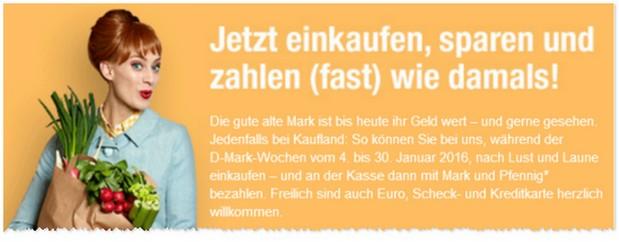 D-Mark-Wochen bei Kaufland