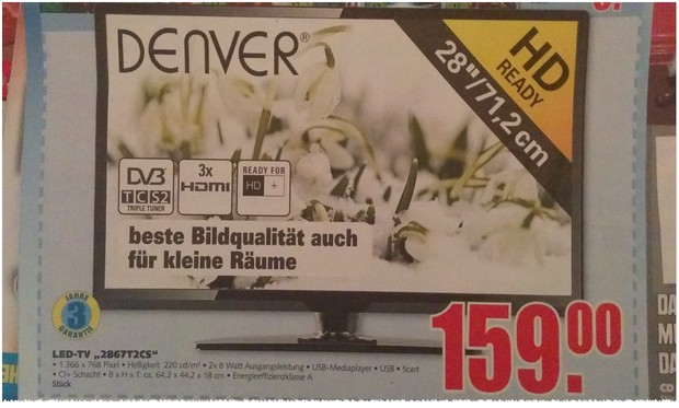 Denver 2867T2CS Fernseher bei EDEKA