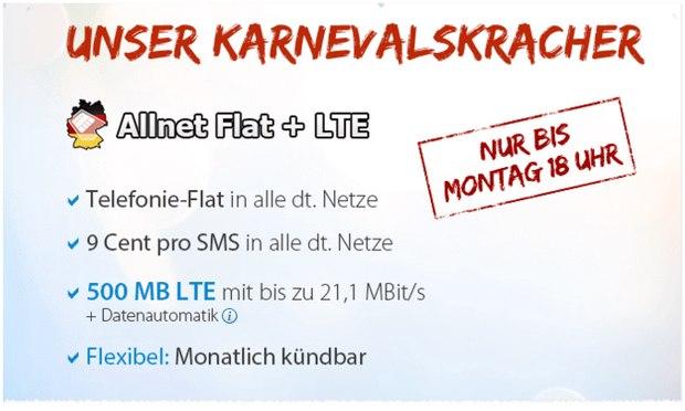 DeutschlandSIM Allnet-Flat + LTE für 7,99 Euro pro Monat