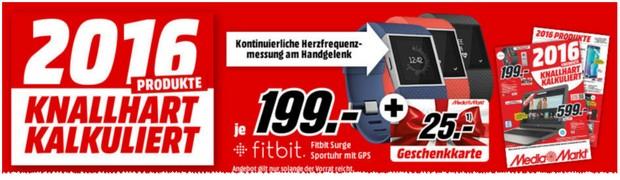 Fitbit Surge Smartwatch bei Media Markt
