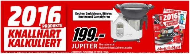 Media Markt Werbung mit Jupiter Küchenmaschine