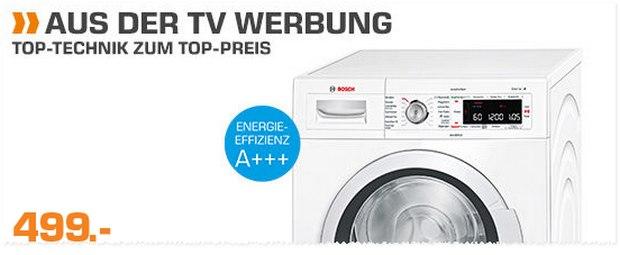 Saturn Montagsangebot am 18.1.2016: Bosch Waschmaschine WAW28550 für 499 €
