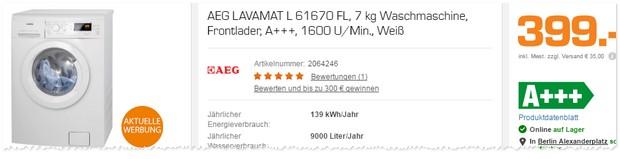 AEG Waschmaschine L61670FL