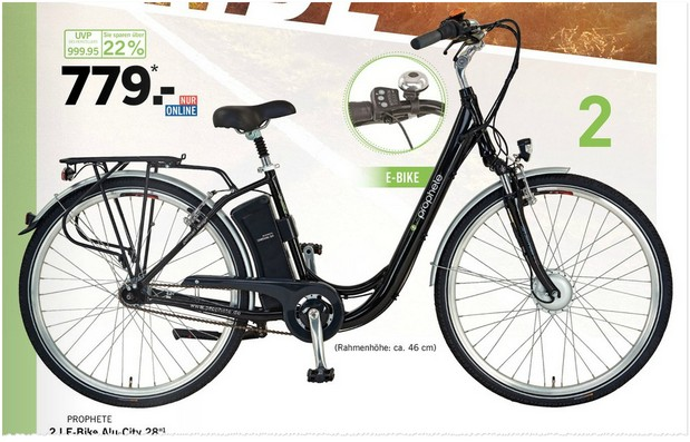 prophete e bike als lidl angebot ab 10. Black Bedroom Furniture Sets. Home Design Ideas