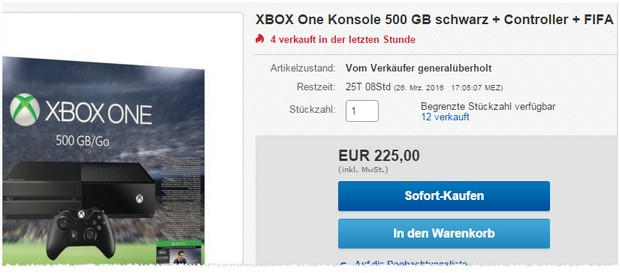 Xbox One generalüberholt