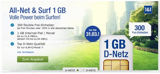 GMX Handytarif All-Net & Surf (D2)