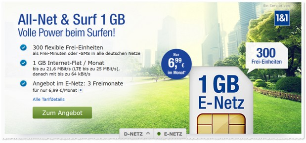 GMX Handytarif All-Net & Surf im E-Plus-Netz