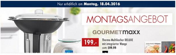 Gourmetmaxx als Karstadt Montagsangebot am 18.4.2016 für 199 € - mit Waage