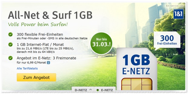 WEB.DE Handytarif All-Net & Surf im E-Plus-Netz