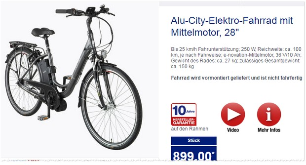 alu city e bike als aldi nord angebot ab 29. Black Bedroom Furniture Sets. Home Design Ideas