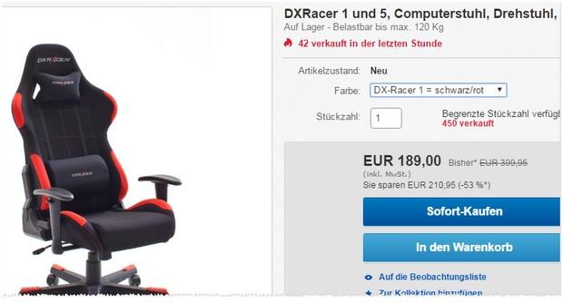 DX Racer Drehstuhl
