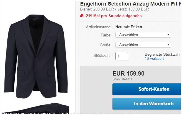 Engelhorn Selection Anzug