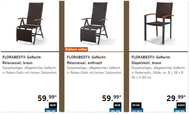 florabest gartenm bel als lidl angebot ab 23. Black Bedroom Furniture Sets. Home Design Ideas