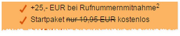 callmobile clever SMART 400 Handytarif ohne Laufzeit und ohne Startpaket-Kosten - es entfallen 19,95 €