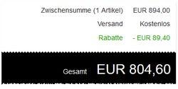 MaxBook Air mit Saturn Gutschein für 804,60 € über eBay