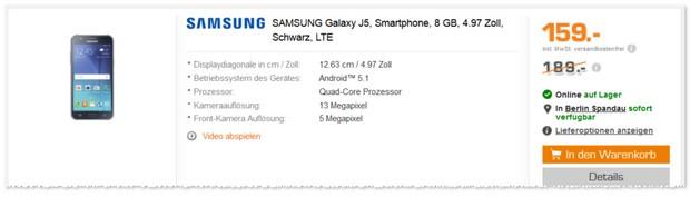Samsung Galaxy J5 im Angebot