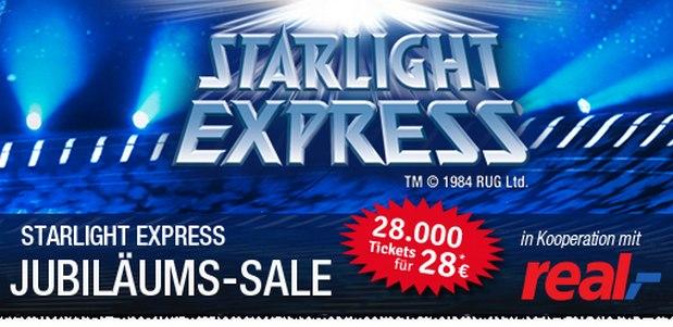 Starlight Express Tickets ab 28 Euro als Ticketmaster-Angebot am 5.3.2016 und 6.3.2016 (Bochum)