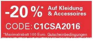 20% eBay-Gutschein auf Kleidung am 19.4.2016