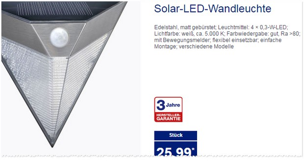solar wandleuchte als aldi nord angebot ab 11. Black Bedroom Furniture Sets. Home Design Ideas