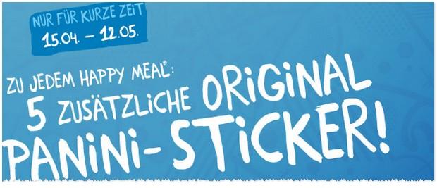 McDonald's Panini Album Sticker zum Happy Meal