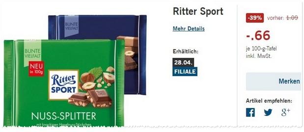 Ritter Sport Angebot bei LIDL