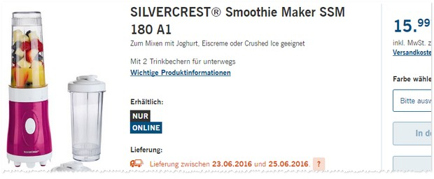 Silvercrest Smoothie-Maker