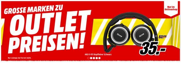 Media Markt Werbung zum Outlet-Verkauf
