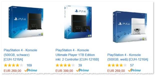 PlayStation 4 bei Amazon nur 269 Euro