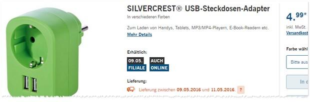 LIDL USB Steckdose