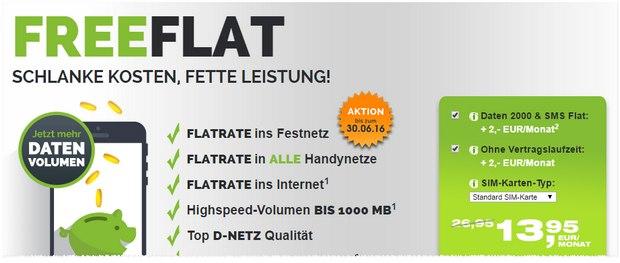 freenet Allnet-Flat unter 10 €