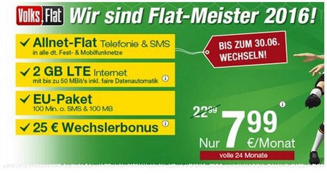Die Heino Tarif Allnet-Flat für 7,99 € vom Kicker-Tisch gilt preislich für 24 Monate – danach steigt der Preis von 8 € auf 14,99 €