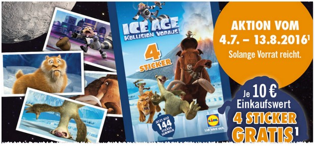 LIDL Ice Age Sticker