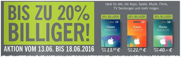 iTunes Karten Rabatt - LIDL