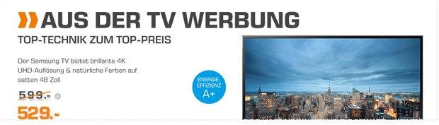 Samsung UE48JU6050U als Saturn Angebot ab 27.6.2016 aus der TV-Werbung
