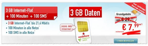 Vodafone Smart Light für effektiv 7,99 € pro Monat