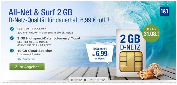 6,99-Euro-Tarif-Angebot mit günstiger Grundgebühr