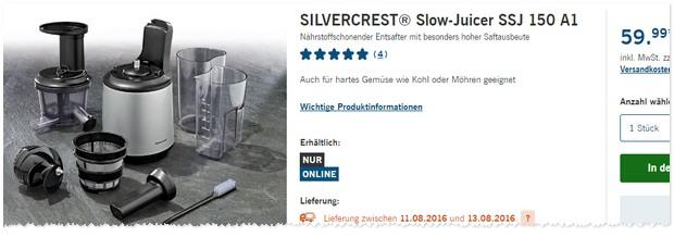Slow Juicer Aldi : Entsafter Lidl ~ Mobel design Idee fur Sie >> latofu.com