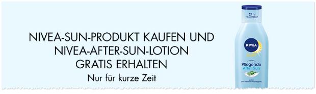Nivea After Sun Lotion gratis