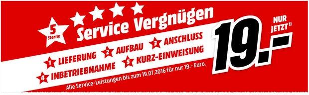 Media Markt Werbung mit 5-Sterne-Service-Vergnügen für 19 Euro