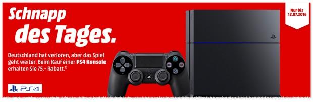 PlayStation 4 bei Media Markt bis zum 12.7.2016 im Angebot