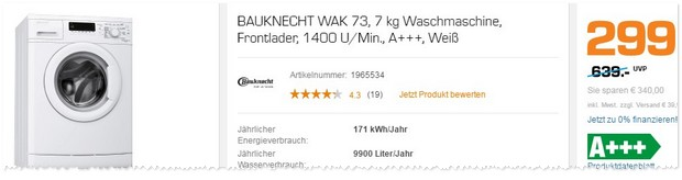 bauknecht waschmaschine saturn angebot werbung ab 20 2. Black Bedroom Furniture Sets. Home Design Ideas