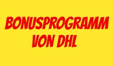 DHL Bonusprogramm