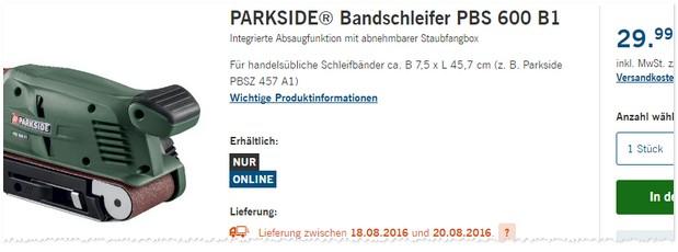 LIDL Bandschleifer