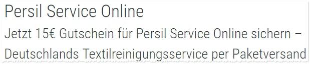 Persil Service Online Gutschein