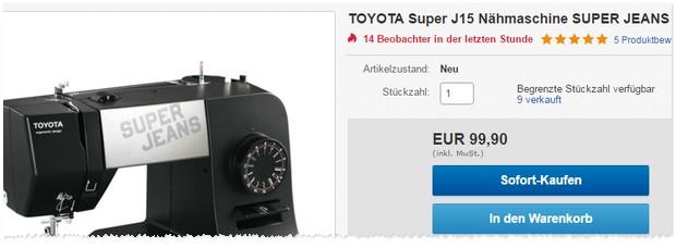 Toyota Nähmaschine